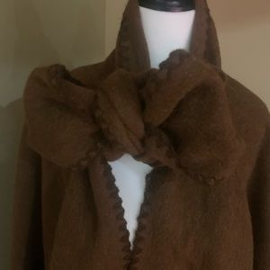 Gorgeous brown wool cape